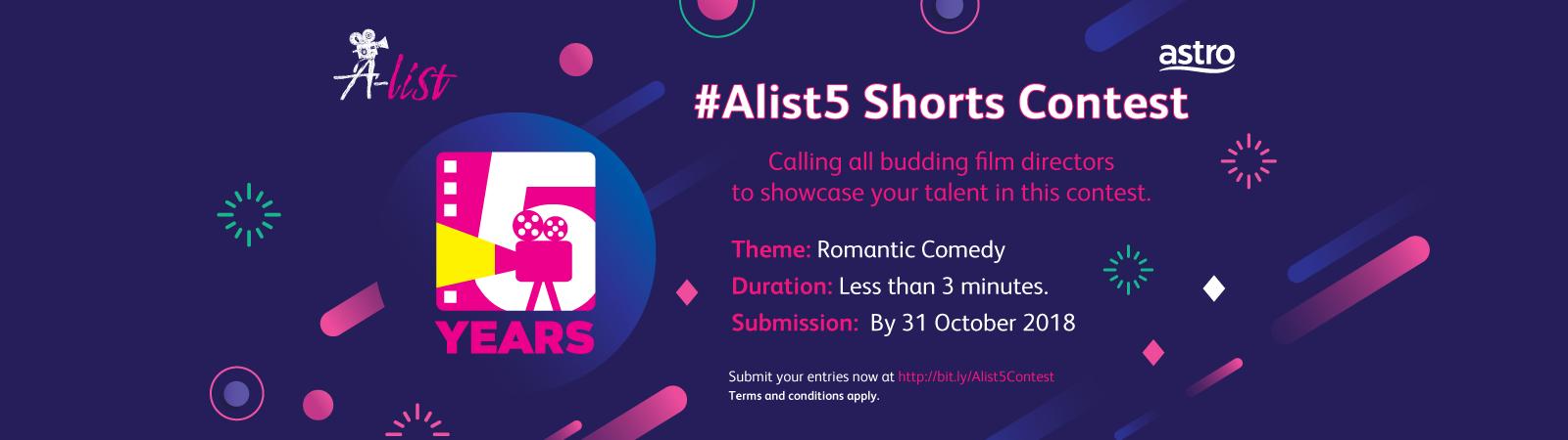#Alist5 Shorts Contest